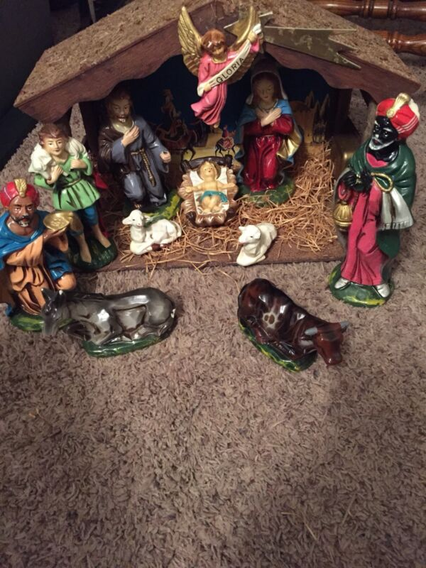 Vintage Nativity / Manger Set Japan