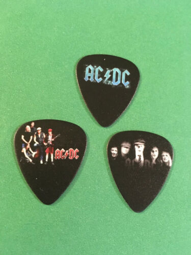 Lot of (3) NOVELTY GUITAR PICK - AC/DC - Group Band Photo FREE SHIP! FAST!