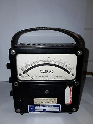 Weston Electrical Instruments Model 433 25-125 Cycles Ac Volt Meter
