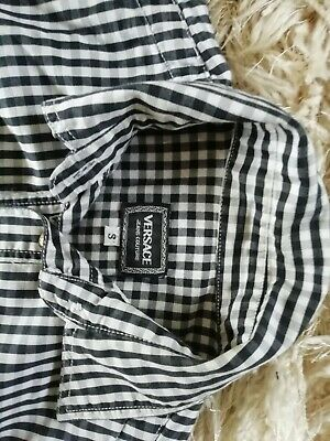 Womens Versace Checkered Top