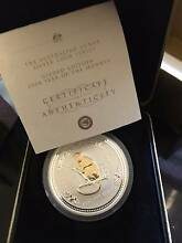 2004 1oz Year of the Monkey Gilded Silver Coin. Cloverdale Belmont Area Preview