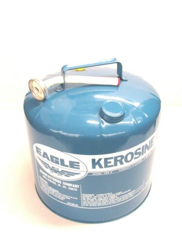 NOS! VINTAGE EAGLE 5-Gallon GALVANIZED STEEL KEROSENE CAN w/ SPOUT, KES-5, USA