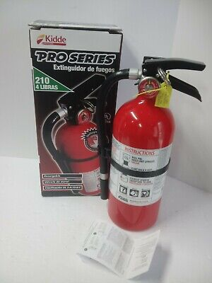 Kidde Pro 210 Rechargeable Fire Extinguisher 4lb 2-a 10-bc
