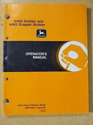 John Deere 640g Skidder And 648g Grapple Skidder Operators Manual