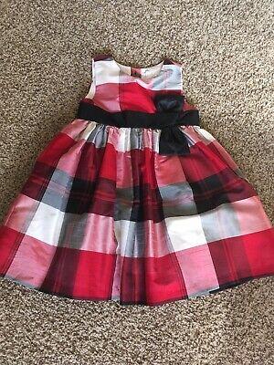 Black And White Girl Dresses (Gymboree Red Black & White Plaid Toddler Girl Dress Size 2T Christmas)