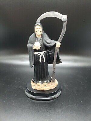 Santa Muerte Statue 5 Inch Black Death Grim Reaper Skull Figure