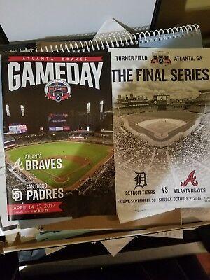 Turner Field Final And Suntrust Park Debut Atlanta Braves Gameday Programs Lot