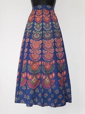 Mujer Azul Marino Algodón India Envoltura Falda Largo Diseño Clásico (Ld10) segunda mano  Embacar hacia Spain