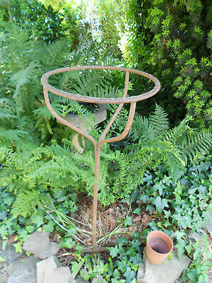 ANTIQUE IRON POTATO HOPPER STAND