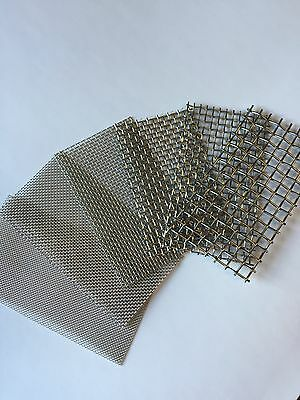 4pc Stainless Steel Mesh Samples 14203040 4x4