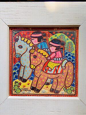 Gisella Loeffler Print Native Children Horse Taos New Mexico South West Art