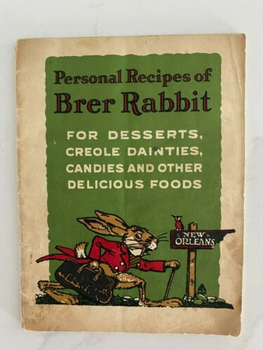 Personal Recipes of Brer Rabbit - Vintage Recipe Booklet