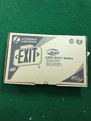 1 - Lithonia Lighting Thermoplastic White Led Emergency Exit Sign New