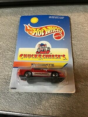 Hot Wheels 80's Corvette Chuck E. Cheese's  Red New Sealed