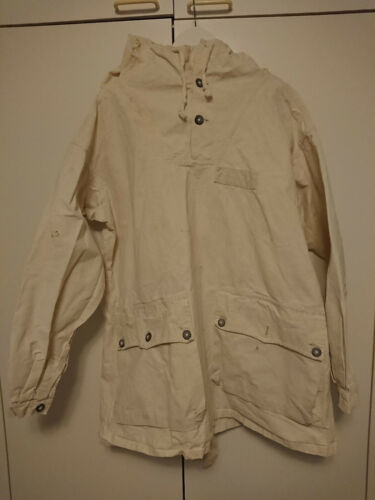 Vintage Army Military Snow Anorak Smock Swedish?