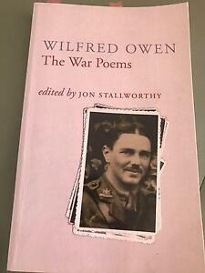 The War Poems by Wilfred Owen Aspendale Gardens Kingston Area Preview