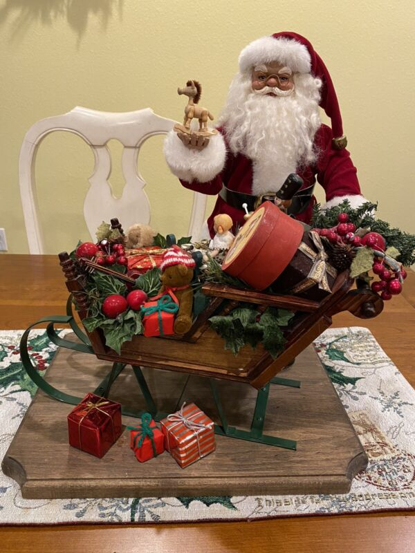 Lasting Endearments Santa's Toyland Express Sleigh Santa Lynn West Limited Ed