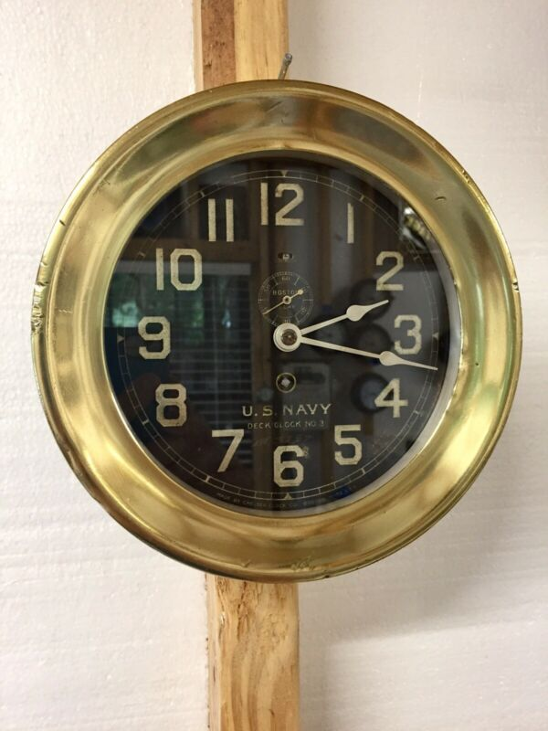 Chelsea 1918 U.S. Navy Deck Clock # 3