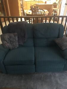 Free green reclining lazy boy couch