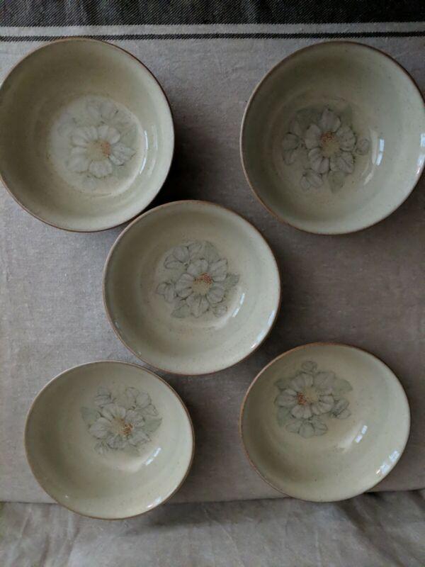 (Set of 5) Denby Langley DAYBREAK Fruit Bowls
