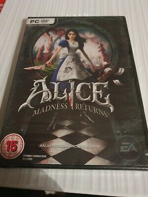 ALICE MADNESS RETURNS PC DVD UK ENGLISH RELEASE NEW FACTORY SEALED BRILLIANT