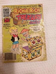 FIRST EDITION NO 1 RICHIE RICH TREASURE CHEST COMIC BOOK HARVEY DIGEST Panorama Mitcham Area Preview