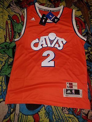 Kyrie Irving Cleveland Cavaliers Cavs Jersey Throwback Orange Size Medium M Md