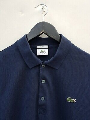 LACOSTE SLIM FIT POLO SHIRT SIZE 5 OR LARGE EXCELLENT CONDITION!