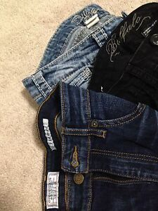 Guess, buffalo and Silver jeans
