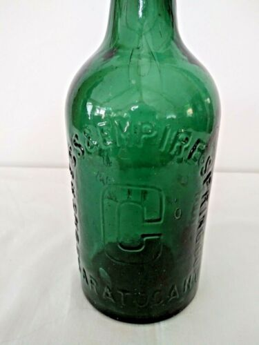 CONGRESS & EMPIRE SPRING CO. SARATOGA, NY CONGRESS WATER BOTTLE ANTIQUE GREEN