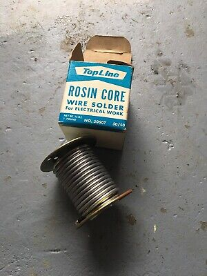 Vintage Top Line Rosin Core Standard Solder 1lb. New Never Used Open Box