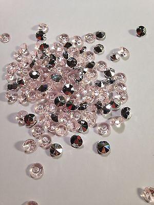 Sliver And Pink 200 PCS  Diamond Shape Vase Filler. Size 8 mm 200+ Pcs Diamond