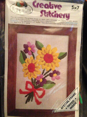 Fruit of the Loom Creative Stitchery #5700-002 Ribbon Bouquet Embroidery Kit NEW
