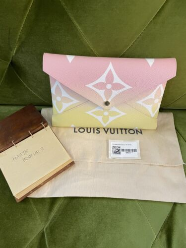 Auth New 2021 Louis Vuitton Pochette Kirigami By the Pool Large Wallet Pouch