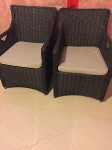 Rattan chairs with cousin