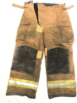 Loin Body Guard Firefighter Turnout Pants Bunker Gear With Liner 36 X 28