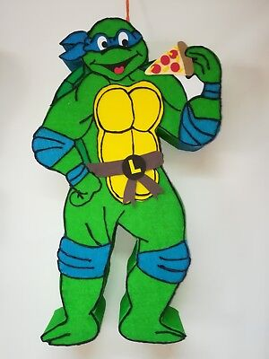 Ninja Turtle Birthday Cake Toppers (turtle ninja turtle pinata, turtle ninja birthday party,)