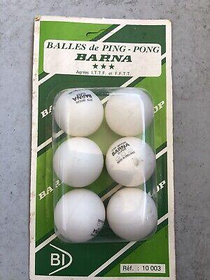 6 Barna Bolas Tenis Mesa Ping Pong 38mm 3 Stars