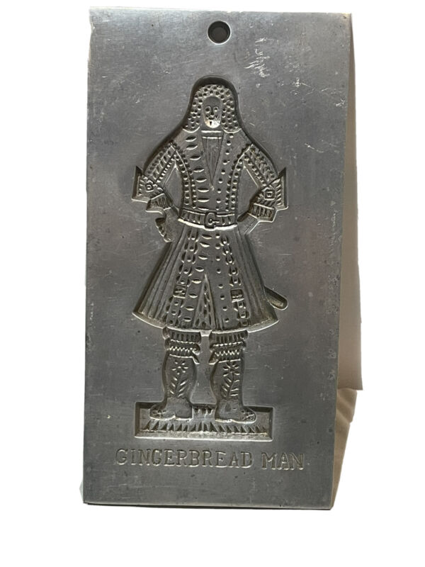 Vintage Metal GINGERBREAD MAN MOLD COPIED FROM BAKE SHOP WILLIAMSBURG VA