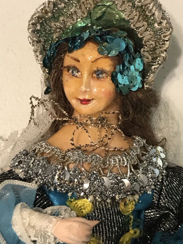 "Vintage  Gypsy? Doll Ethnic Souvenir 11"""