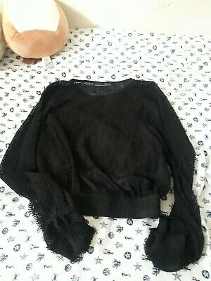 Zara Mesh Long Sleeved Top Size M NWOT