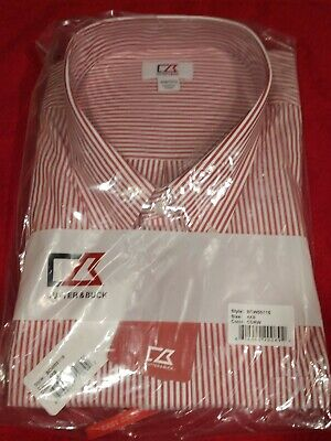 Cutter & Buck L/S Epic Easy Care Mini Bengal Button Down BCW00115 (NOS) 4XB/4TG