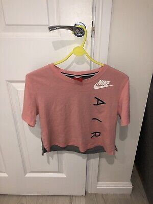 Nike Air Max Crop Top Tshirt | Size XS 6-8 | Pink | Great Condition
