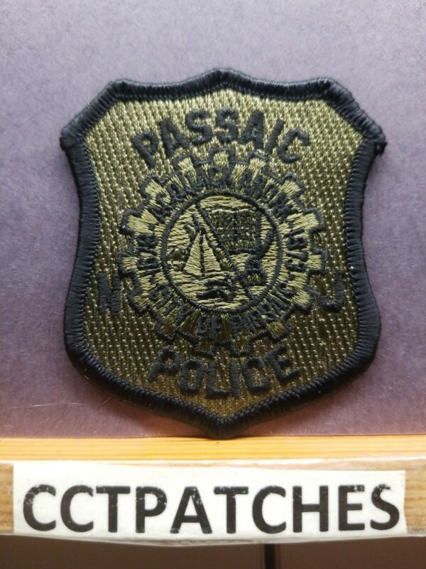 PASSAIC, NEW JERSEY POLICE SUBDUED (SMALL) SHOULDER PATCH NJ