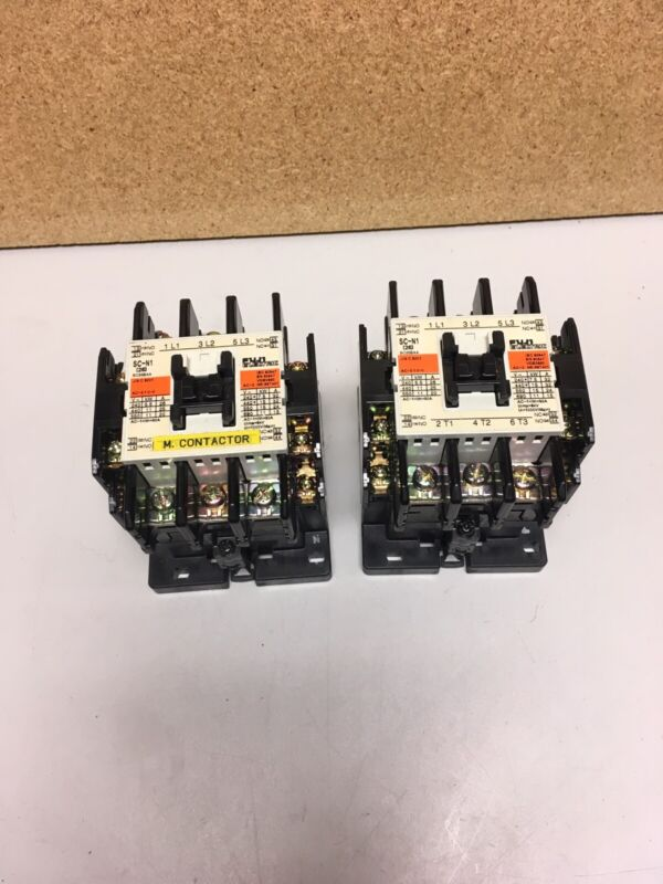 Lot of 2 Fuji Electric Contactors SC-N1 SC258AA Used