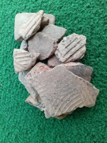Creek Indian Pottery Shards North Georgia Savannah Complicated 800+ Years Old
