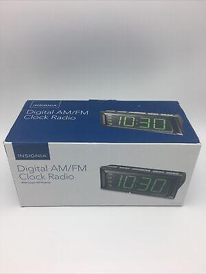 Insignia Alarm Clock - Digital AM/FM Clock Radio - Large LED Display