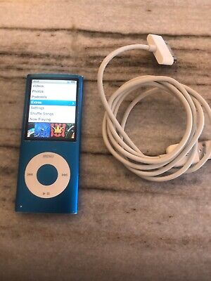 Apple iPod nano 4th Generation Blue (8GB) NEW BATTERY. Good condition