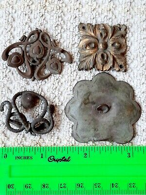Ancient MEDIEVAL bronze Amulet Overlay Pendant Necklace Vintage antique