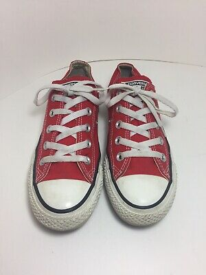 Converse Chuck Taylor All Star Low Red Shoes Women's Size 6